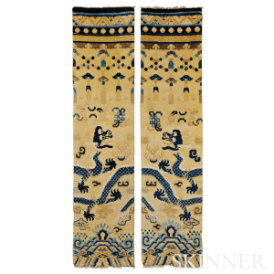 Pair of Lamaist Pillar Rugs, Ningxia, China (Lot 149, Estimate $3,000-$4,000)