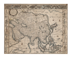 (Maps and Charts, Asia), Speed, John (1552-1629), Asia, with the Islands adioying described..., London, 1626 or later, sold for $3,318 at Skinner in 2011.