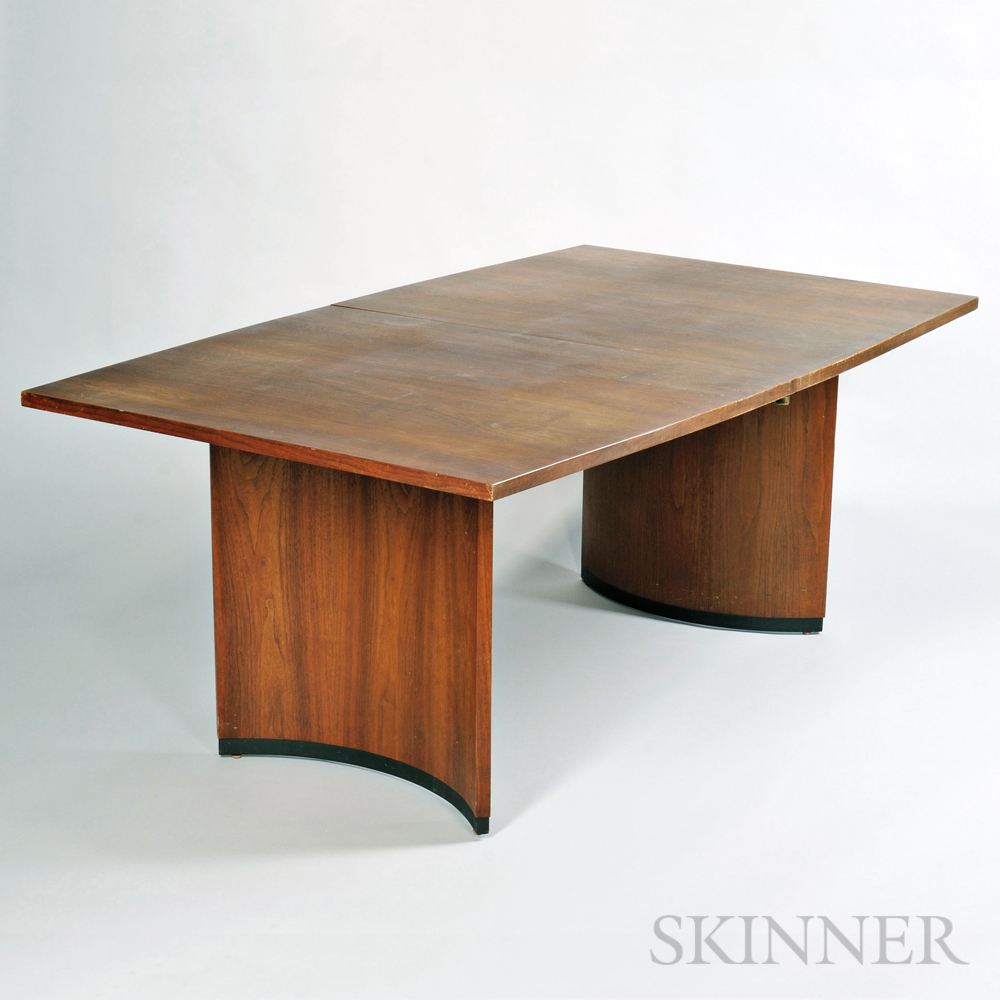 Cute Mid century Teak Dining Table and Two Chairs Lot Estimate