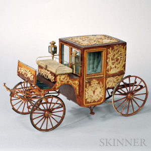 Cased Model of a Carriage, 19th/20th century (Lot 156, Estimate $600-$800)