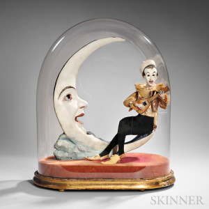 Pierrot Serenading the Moon, Gustav Vichy, Paris, France, c. 1890 (Lot 263, Estimate $40,000-$60,000)