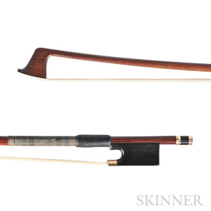 French Gold-mounted Violin Bow, Lupot (Lot 49, Estimate $5,000-$7,000)