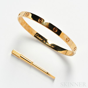 18kt Gold 'Love' Bracelet, Cartier (Lot 1141, Estimate $2,000-$3,000)