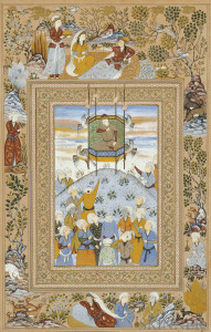 Four Leaves of Miniature Paintings, Iran, 18th century (Lot 28, Estimate $20,000-$30,000)