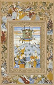 Four Leaves of Miniature Paintings, Iran, 18th century (Lot 28, Estimate $20,000-$30,000)