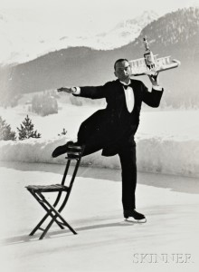 Alfred Eisenstaedt (American, 1898-1995) René Breguet, Ice Skating Waiter, St. Moritz, 1932, printed later. (Lot 63, Estimate $5,000-$7,000)