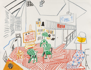 David Hockney (British, b. 1937) Pembroke Studio Interior, 1984, edition of 70 plus proofs (Sold for: $23,370)