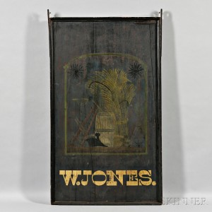 Two-sided 'W. JONES' Tavern Sign, America, early 19th century (Lot 1361, Estimate $1,500-$2,500)