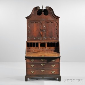 Diminutive Carved Cherry Desk Bookcase (Lot 1332, Estimate $15,000-$25,000)