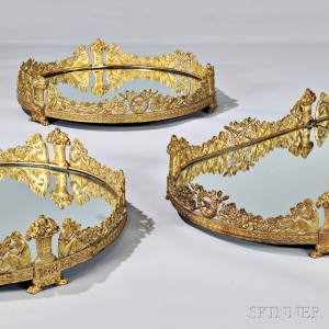 Seven-piece Empire Ormolu Surtout de Table, Paris, early 19th century (Lot 364, Estimate $10,000-$20,000)