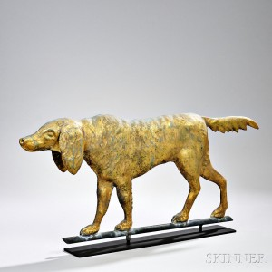 Gilt Copper Setter Weathervane (Lot 45, Estimate $2,000-$3,000)