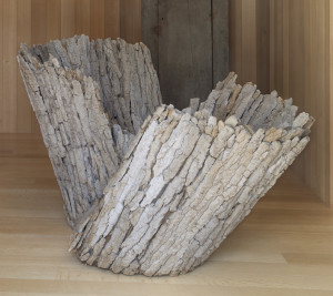 Twirl, 1997, Pine bark. Courtesy of the Artist. Image by Will Howcroft.