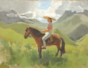 Joseph Inguimberty (1896-1971), Portrait of Alix Ayme on Horseback (Lot 43, Estimate $15,000-$20,000)