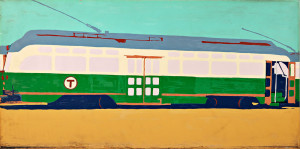 Mary Beams (American, b. 1945)  Green Line Train (Lot 1001, Estimate $1,000-$1,500)