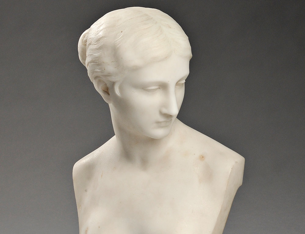 Marble Bust of a Woman (Estimate $800-$1,200)