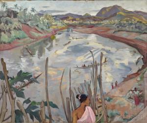 Alix Ayme (1894-1989), River Landscape of Luang Prabang (Lot 42, Estimate $25,000-$30,000)