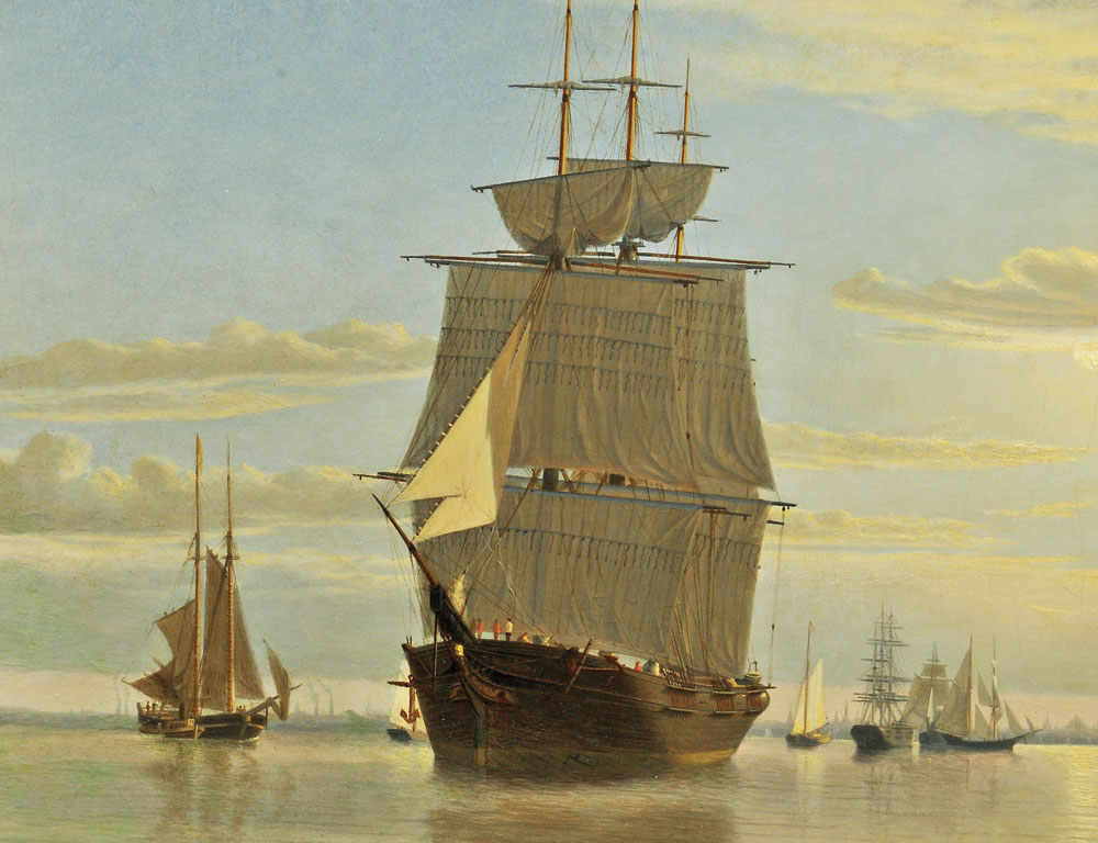 William Bradford (Massachusetts/California, 1823-1892)  Boston Harbor (Lot 23, Estimate $150,000-$250,000)