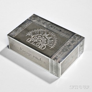 Russian .875 Silver Trompe L'Oeil Cigar Box, Moscow, c. 1871 (Lot 70, Estimate $3,000-$5,000)