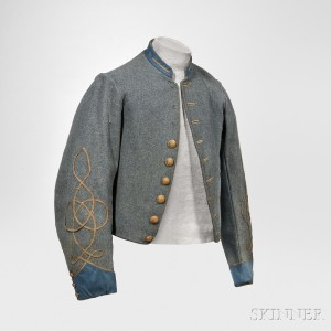 Richmond Depot Type II Jacket from 2nd Lieutenant John James Haines, 2nd Virginia Infantry, c. 1862-63 (Lot 147, Estimate $30,000-$40,000)