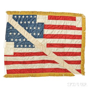 Admiral Peary Flag from the North Pole Expedition, c. early 20th century (Lot 241, Estimate $15,000-$20,000)