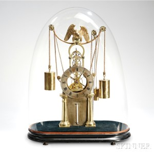Simon Willard Jr. Brass Skeleton Clock, Boston, Massachusetts, or New York City, c. 1825-35 (Lot 294, Estimate $8,000-$12,000)
