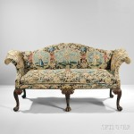 Late George III Needlepoint Settee, England, 19th century, with later components, (LOT 526, $800-1,200)