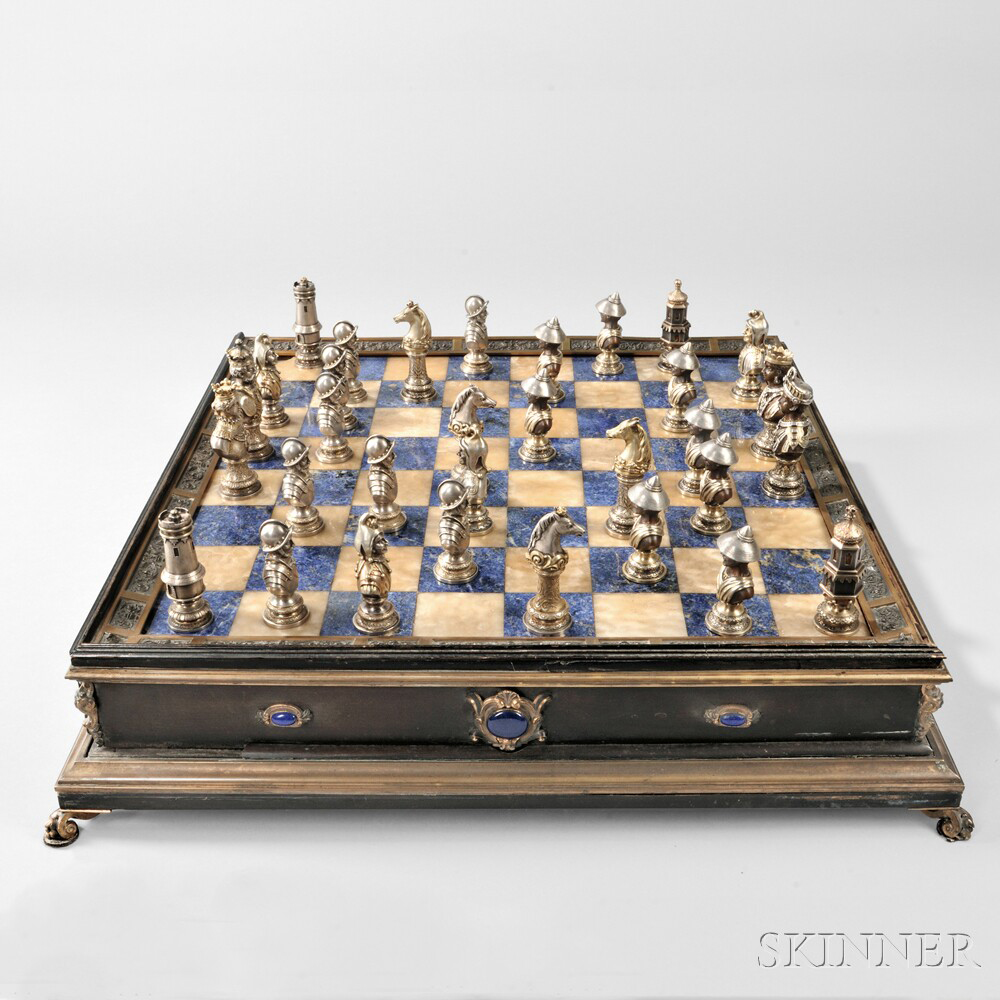 Art Nouveau Chess At Its Best Skinner Inc