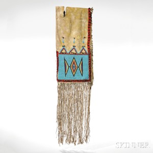 Yankton/Hunkpapa Beaded Buffalo Hide Double Saddlebags, c. 1870 (Lot 143, Estimate $8,000-$12,000)