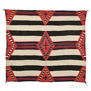 Navajo Third Phase Chief's Blanket, c. 1870s (Lot 289, Estimate $20,000-$30,000)