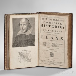 Shakespeare, William (1564-1616) Mr. William Shakespear's Comedies, Histories, and Tragedies.(Lot 287, Estimate $40,000-$60,000)