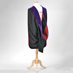 Kennedy, John Fitzgerald (1917-1963) Academic Hood Worn During Harvard Commencement, 14 June 1956. (Lot 44, Estimate $6,000-$8,000)