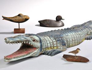 A Selection of Carved Folk Art Animal Figures