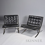 Pair of Modern Lounge Chairs,  20th century, (Lot 1052, Estimate $400-$600)