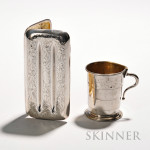 Sterling Silver Cigar Case and Silver-plate Collapsible Cup, (Lot 1061, Estimate $50-$75)