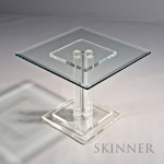 Mid-century Modern Lucite and Glass Side Table, 20th century (Lot 1096, Estimate $300- $350)