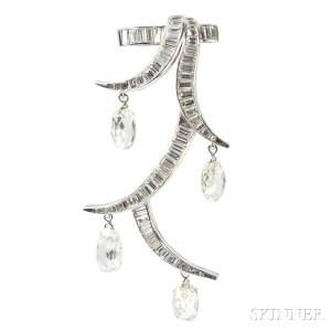 Platinum and Diamond Clip Brooch, Suzanne Belperron (Lot 427, Estimate $20,000-$30,000)