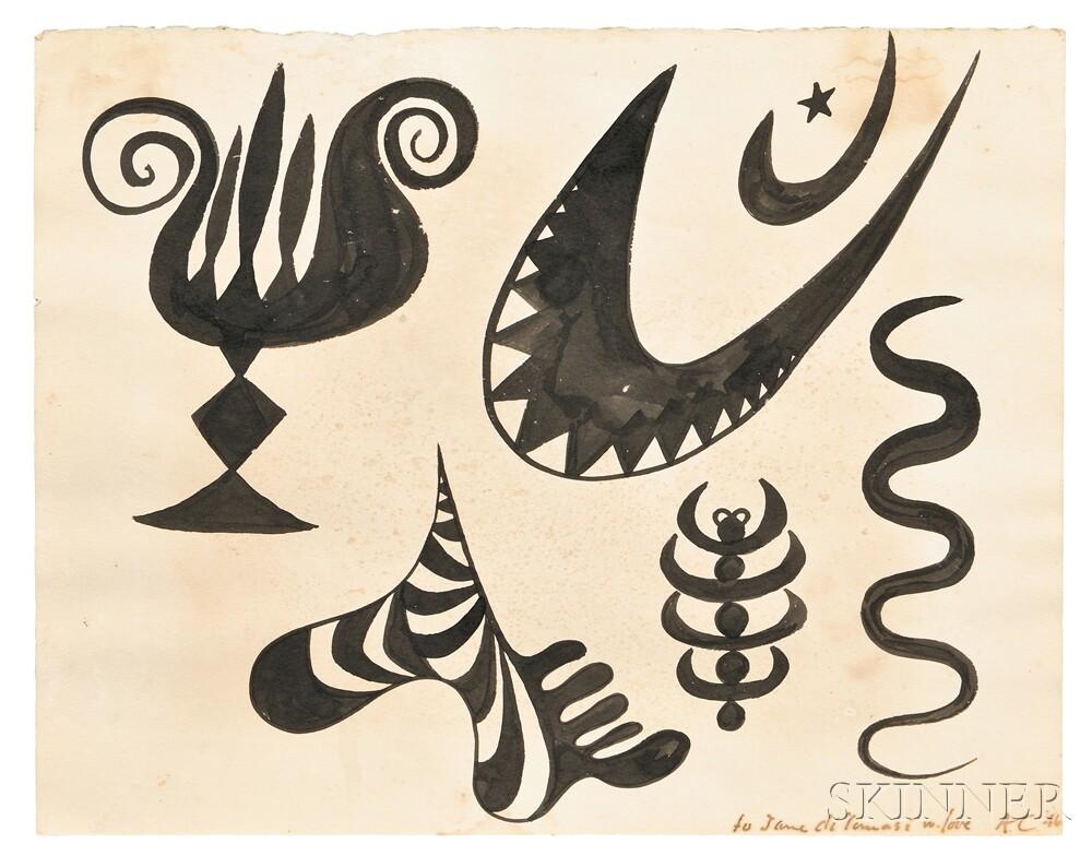 Alexander Calder (American, 1898-1976)  Untitled (Lot 383, Estimate $25,000-$35,000)