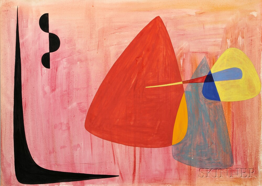 Alexander Calder (American, 1898-1976)  Untitled Abstract Composition, c. 1942 (Lot 385, Estimate $35,000-$55,000)
