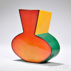 Fred Stodder Modernist Ceramic Vase, America, late 20th century (Lot 1206, Estimate $300-$500)