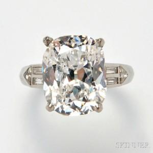 Platinum and Diamond Solitaire (Lot 552, Estimate $80,000-120,000)