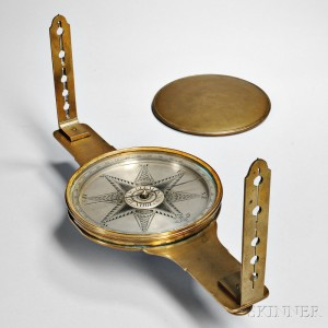 John Heilig Brass Surveyor's Compass, c. 1800 (Lot 304, Estimate $6,000-$8,000)