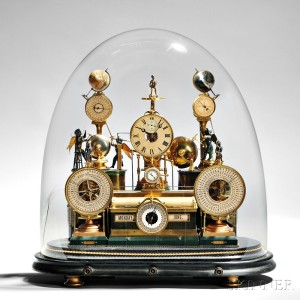Louis E. Meyer 'Grand Complication' Skeleton Clock, St. Charles, Missouri, 1876 (Lot 138, Estimate $20,000-$40,000)