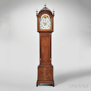 Simon Willard Mahogany Eight-day Tall Clock, Roxbury, Massachusetts, c. 1795 (Lot 107, Estimate $18,000-$28,000)