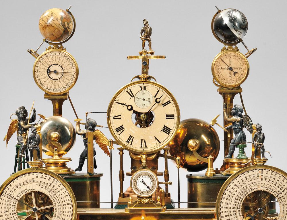 Louis E. Meyer 'Grand Complication' Skeleton Clock, St. Charles, Missouri, 1876 (Lot 138, Estimate $20,000-$40,000)