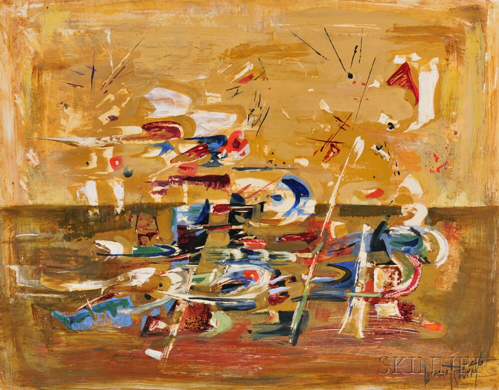 American School, 20th Century Abstract (Lot 1451, Estimate $400-$600)