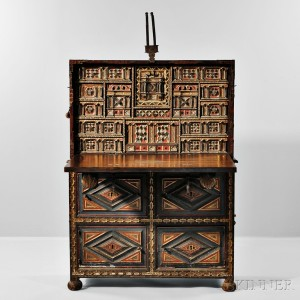Spanish Baroque-style Vargueno on Stand, 19th century (Lot 554, Estimate $3,000-$5,000)