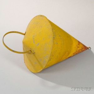 Yellow-painted Tinned Sheet Iron Mooring Buoy, 20th century (Lot 430, Estimate $300-500)