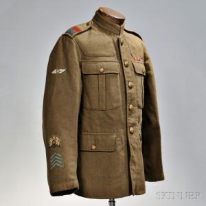 Universal Service Dress Jacket, 8th Tank Battalion, c. 1915 (Lot 1120, Estimate $1,000-$1,500)