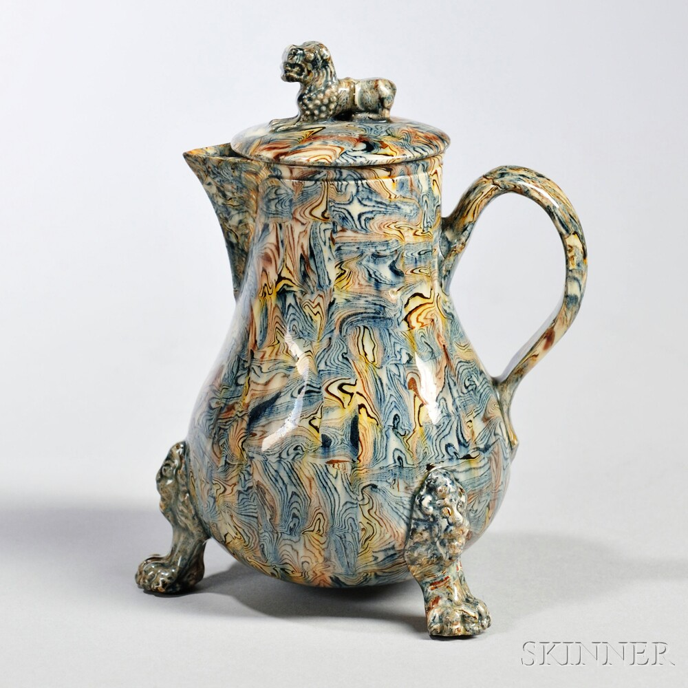 Agate Ware Milk Jug and Cover, England, c. 1745-50 (Lot 249, Estimate $2,000-$3,000)