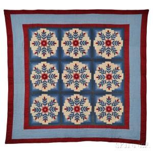 Floral Medallion Patchwork Quilt (Lot 123, Estimate $200-300)